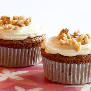 Gluten-Free Carrot Cupcakes with Cream Cheese Frosting.