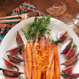 Roasted Carrots & Radishes with Orange Zest