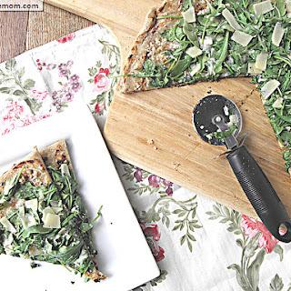 Grilled Arugula Parmesan Romano Pizza