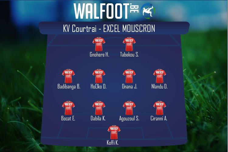 Excel Mouscron (KV Courtrai - Excel Mouscron)