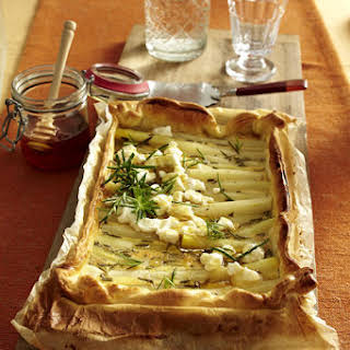 Goat Cheese and Salsify Tart.