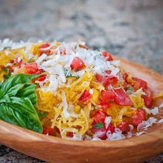Spaghetti Squash with Tomatoes and Basil.