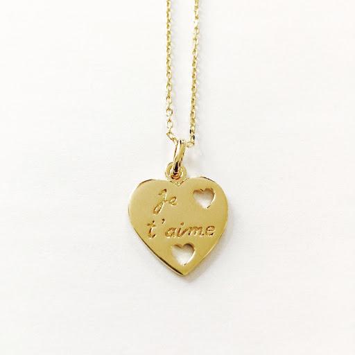 collier coeur je t'aime