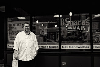 Photo: Cory  I was out in Springfield working on another project when I passed this place. I saw two men conversing just inside the window. I raised my camera when they saw me and asked with raised camera and a smile to take their picture. This gentleman came out, curious as to what I was doing. I introduced myself, asked his name (Cory) and said I was a local photographer and pretty much shoot for myself. He said he enjoyed taking pictures around too of different things, but not with a fancy camera. I asked if I could take a shot of him right there - he happily agreed.  I have to say I really enjoy it when I'm shooting scenes and people just come right out and ask If I'd shoot them :)   +100 Strangers Project  #100Strangers<3/100> ~ hosted by +James Finstrom  also for #TodayTuesday ~ curated by +Brian White