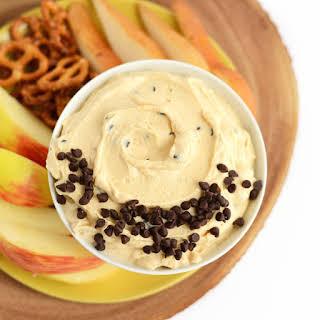 Healthy Peanut Butter Chocolate Chip Yogurt Dip.