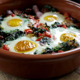 Spanish Baked Eggs.