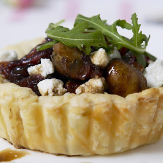 Caramelized Onion, Mushroom and Goat Cheese Tart
