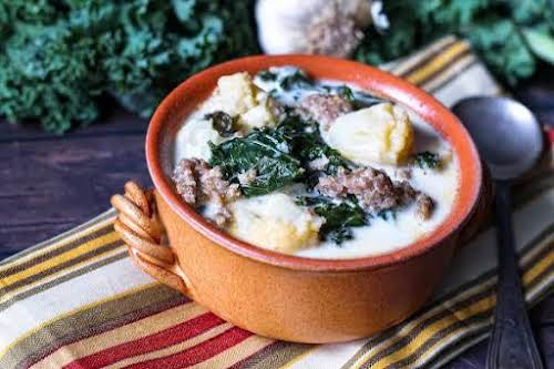 "1 Pot Tuscany Soup A'la Me Keto Style ""Wow, this Tuscan soup..."