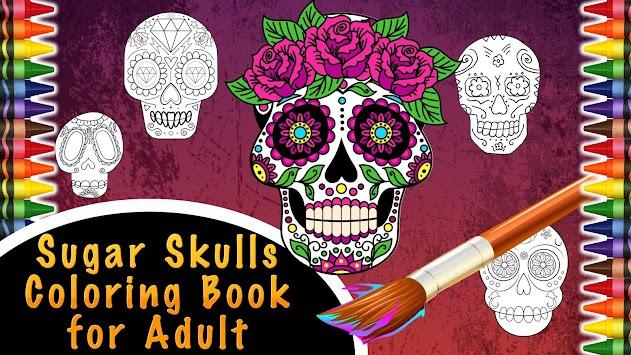 Sugar Skulls Color For Adult Apk Screenshot