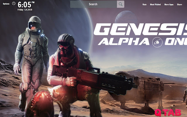 Genesis Alpha One New Tab Wallpapers