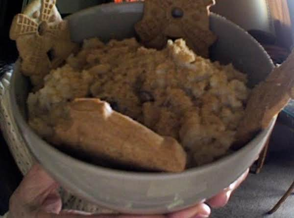 My Own Creation: Windmill Cookies Surround Apple/raisin Sweet Creamy Rice. Very Low Cost & Satisfies Deliciously