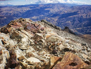 Photo: On my way down. San Cristobal in the distance.