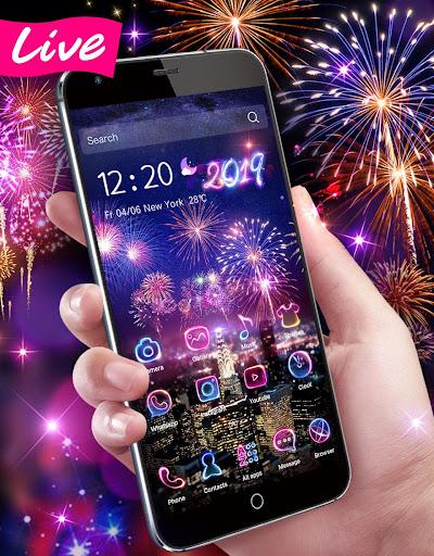 Lucky 3D New Year Firework Theme 1.1.4 screenshots 2