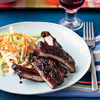Apple-Glazed Barbecued Baby Back Ribs.