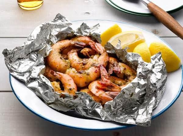 Grilled Garlic Shrimp In Foil