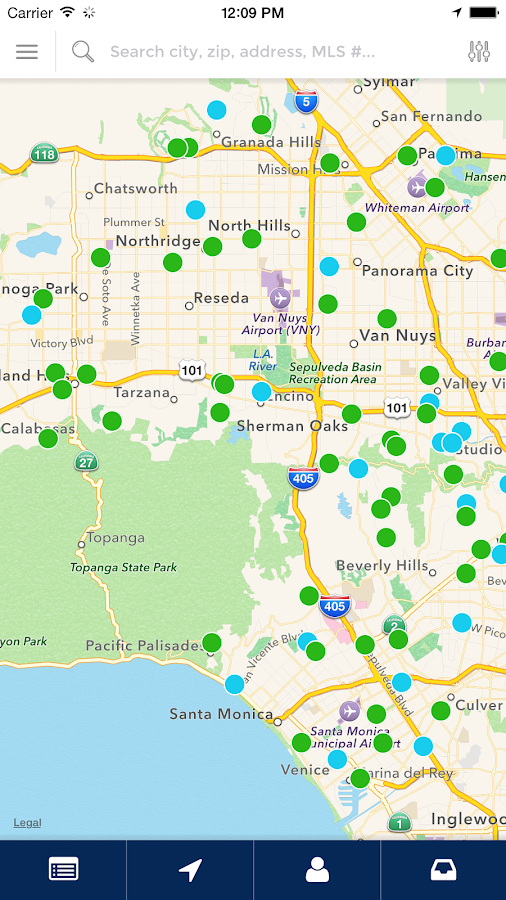 Los Angeles HomeFinder- screenshot