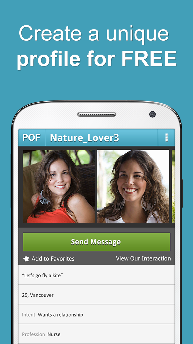 POF Free Dating App screenshot #1