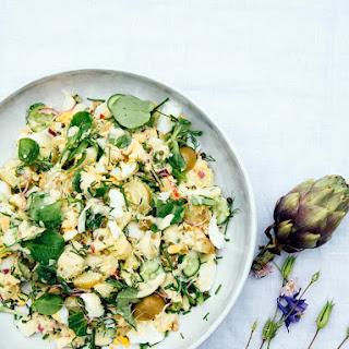Scandinavian Potato Salad With Apple And Sour Cashew Sauce