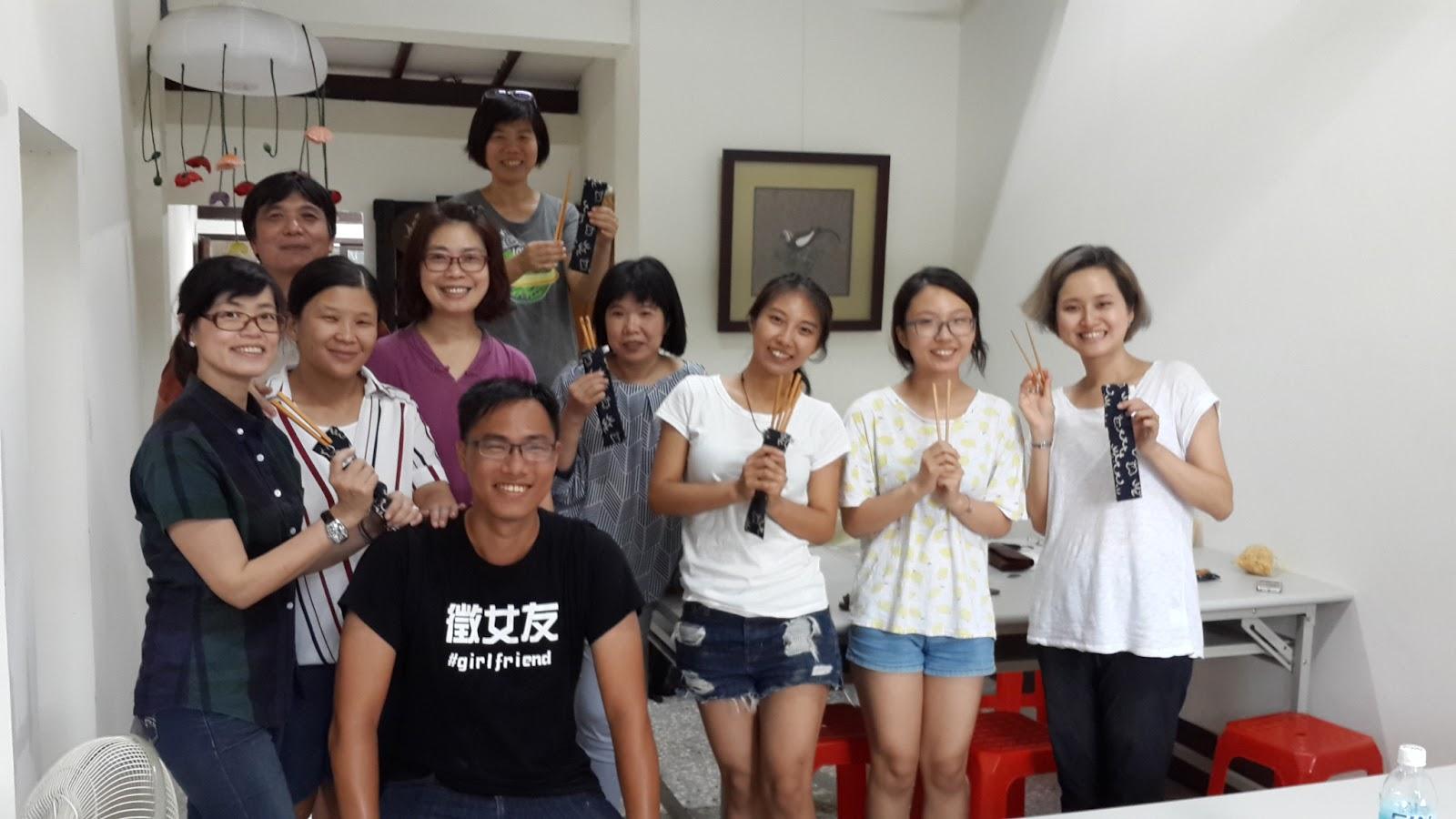 2016/8/12第一期「筷」意生活複合媒材體驗課圓滿成功