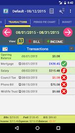 MoBill Budget and Reminder Screenshot 1