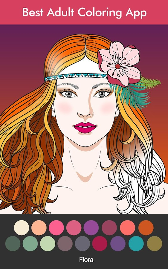 coloring book for adults screenshot - Coloring Book App For Adults