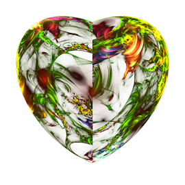 Flower Heart by Cassy 67 - Illustration Abstract & Patterns ( hearts, heart, floral design, digital art, fractal art, flowers, fractal, digital, fractals, floral, flower )