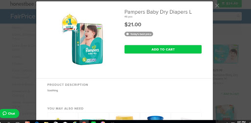 Price of Pampers at Fairprice Online