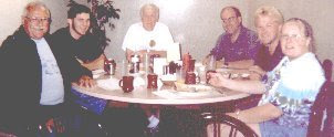 Photo: First Negative Image Scooter Club meeting at Mel's Diner on West Henrietta Road in Rochester, c. 1999