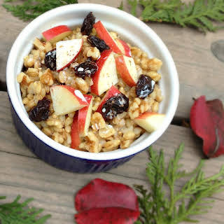 Breakfast Barley with Fruit and Nuts.