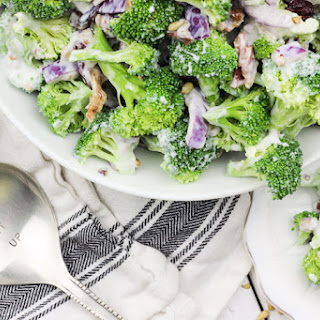 Skinny Greek Yogurt Broccoli Salad.