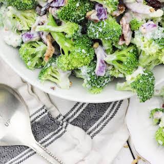 Skinny Greek Yogurt Broccoli Salad.