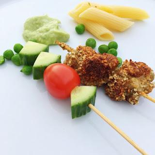 Gluten Free Pumpkin Seed Chicken Kebabs