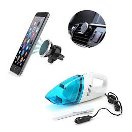 Set auto: Suport magnetic telefon + Aspirator auto