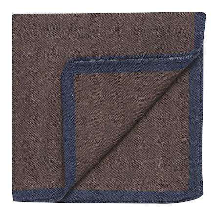 Oscar Jacobson bröstnäsduk brun ull