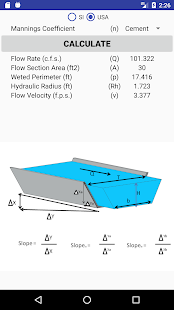 Download TRAPEZOIDAL WATER CHANNEL CALCULATION For PC Windows and Mac apk screenshot 2