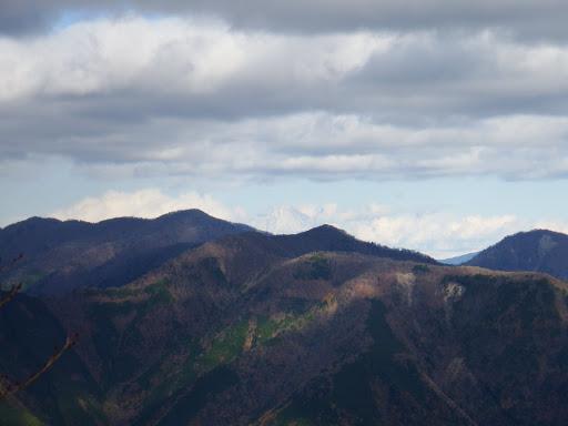 富士山も見えて(右に京丸山、左に高塚山)