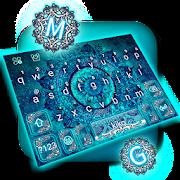 App Blue Galaxy Mandala Keyboard Theme APK for Kindle
