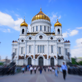 The Cathedral of Christ the Saviour, Moscow, Russia by Zam Foto - Travel Locations Landmarks ( pwclandmarks )