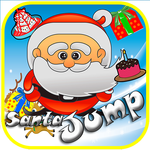 圣诞老人跳跃圣诞节游戏的孩子