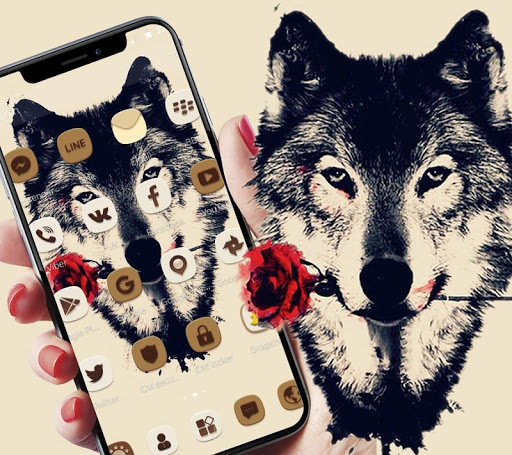 Tattoo Rose Romantic Wolf Theme 1.1.4 screenshots 3