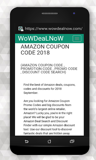 Coupon codes for Amazon 1.0 screenshots 1