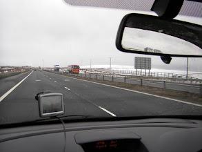 Photo: Onderweg naar Stirling met de huurauto, de eerste sneeuw laat zich zien .....