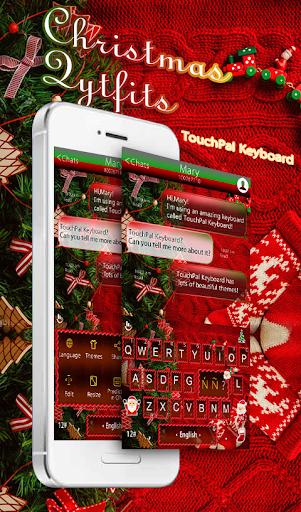 Red Outfits Keyboard Theme screenshot