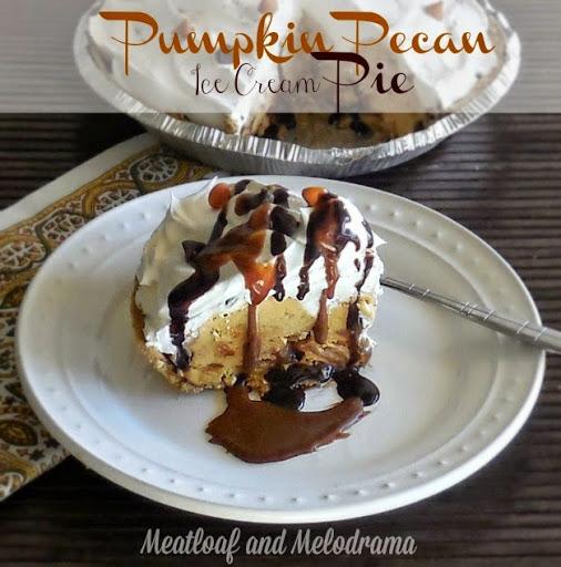 No Bake Pumpkin Pecan Ice Cream Pie