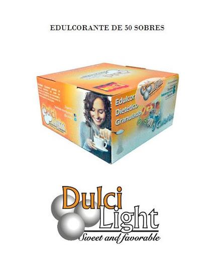 edulcorante de sucralosa dulci light 40g 50 sobres Dulci light
