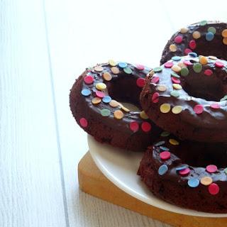 Healthy Triple Chocolate Donuts with a Dark Chocolate Glaze