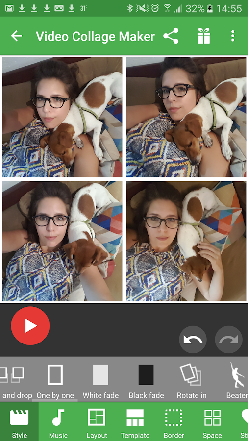 Screenshots of Video Collage Maker for iPhone
