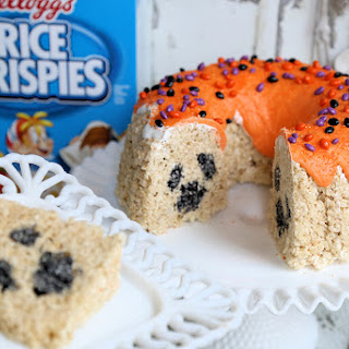 Halloween Kellogg's® Rice Krispies® Bundt Cake with Ghost Surprise Inside!