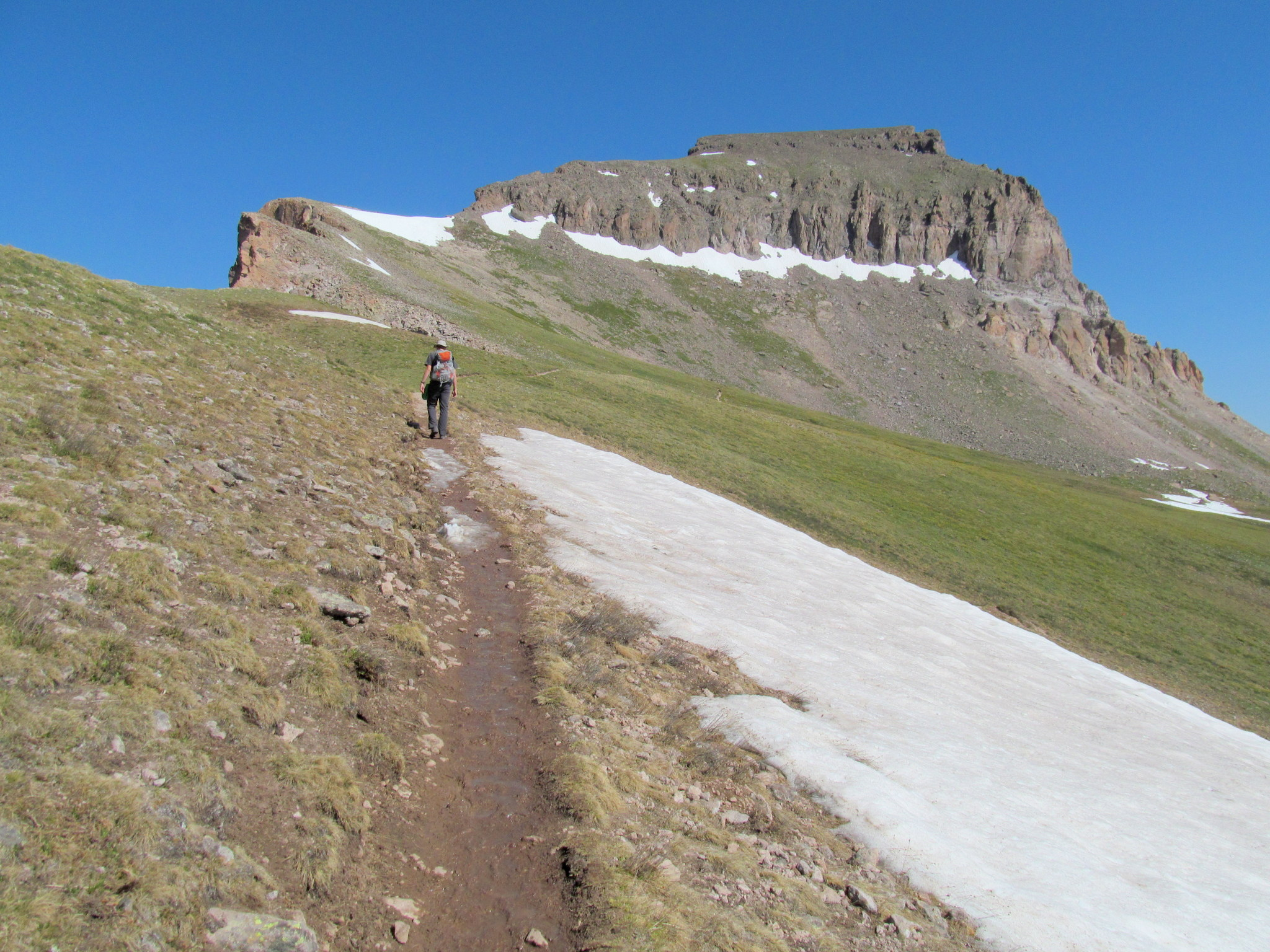 Photo: Approaching the summit block