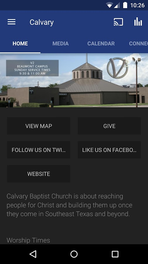 Calvary Baptist Church App- screenshot